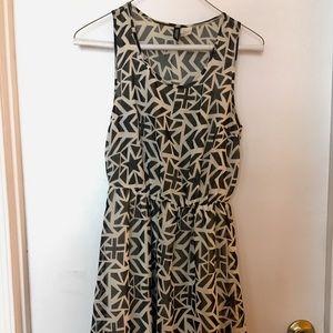 Divided patterned dress